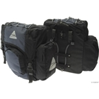 Axiom Cartier Deluxe Pannier Set: Black/Gray