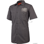 Foundry Cycles Mechanic Work Shirt: Charcoal