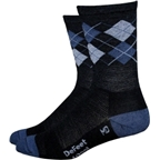 DeFeet WoolEator HiTop Sock: Argyle/Dark Gray