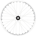 "Atomlab Pimp2 26"" Rear Wheel 10x135 White"