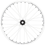"Atomlab Pimp2 26"" Front Wheel 20mm White"