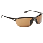 Native Vigor Sunglasses: Asphalt with Brown Polarized Lens IC