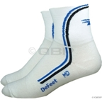DeFeet AirEator Deline Sock: White/Blue