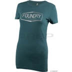 Foundry Cycles Women's Badge T-shirt: Dark Teal
