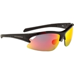 Optic Nerve Apex Sunglasses with 3 Premium Performance Interchangeable Lenses: Black