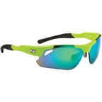 Optic Nerve Neurotoxin 2.0 Sunglasses with 3 Premium Performance Interchangeable Lenses: Green/Black