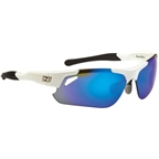 Optic Nerve Neurotoxin 2.0 Sunglasses with 3 Premium Performance Interchangeable Lenses: White/Black