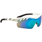 Optic Nerve Thujone 2.0  Sunglasses with 3 Premium Performance Interchangeable Lenses: White/Black