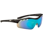 Optic Nerve Thujone 2.0  Sunglasses with 3 Premium Performance Interchangeable Lenses: Black