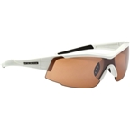 Optic Nerve Eyres Sunglasses with 2 Deuce Performance Interchangeable Lenses: Gloss White