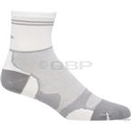 "DeFeet LeviTator-Lite 2"" Cuff Sock: Gray/White"
