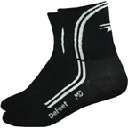 DeFeet AirEator Deline Sock: Black/White