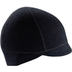 Ibex Coppi Merino Wool Cycling Cap: Black