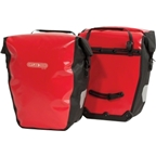 Ortlieb Back-Roller City Rear Pannier: Pair; Red/Black