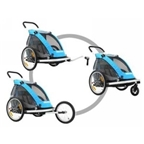 Croozer Kid-for-1 737 3-in-1 Alloy Trailer - Blue