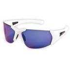 JetBlack Cruiser Sunglasses - White Carbon Frame/Blue Lens