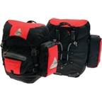 Axiom Modular Grand Tour 45 Pannier Set: Red/Black