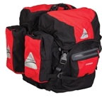 Axiom Modular Grand Tour 60 Pannier Set: Red/Black