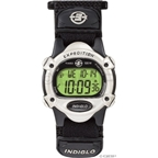 Timex Chrono Alarm Timer Sport Watch: Black/Silver; Mid-Size