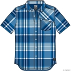 Fox Racing Denton Short Sleeve Woven Shirt: Blue