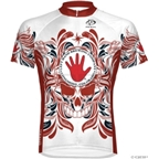 Primal Wear Left Hand Juju Cycling Jersey: White/Red