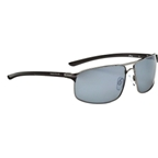 Optic Nerve Alloy Polarized Sunglasses: Shiny Dark Gunmetal