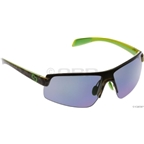 Native Lynx Sunglasses: Black/Lime with Blue Reflex Lens