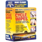 White Lightning Bamboo Cycle Cycle Wipes Individually Wrapped 36pack POP
