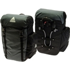 Axiom Seymour DLX 30 Pannier Set: Black/Gray