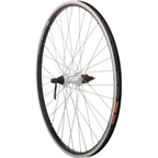 "Quality Wheels Value Series 2 Rear Wheel 26"" Shimano RM70 Silver / Freedom Ryder 23 Black"