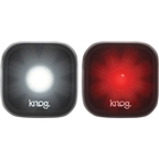 Knog Blinder 1 USB-Rechargeable Safety Light: Twin Pack; Black