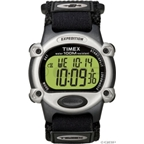 Timex Chrono Alarm Timer Sport Watch: Black/Silver; Full-Size
