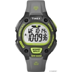 Timex Ironman 30-Lap Watch: Full-Size; Black/Green