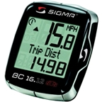 Sigma BC 16.12 STS Wireless Cycling Computer: Black