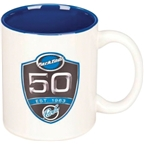 Park Tool 50th Anniversary Coffee Mug: White/ Blue