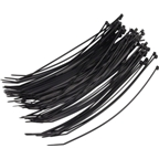 Wheels Manufacturing Zip Ties: Black;  200 x 2.5mm : 100ct