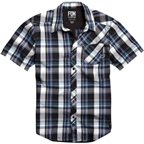 Fox Racing Flint Short Sleeve Woven Shirt: Black