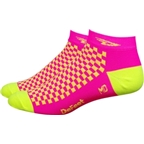 "DeFeet SpeeDe 1"" LoCuff Sock: Yellow/Pink"