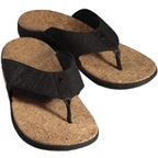 Sole Casual Cork Flip-Flop: Coal~ Men's US 10