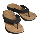 Sole Casual Cork Flip-Flop: Coal~ Women's US 9
