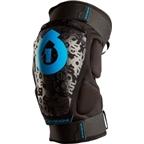 SixSixOne Rage Protective Hard Knee Pad: Black