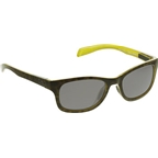 Native Highline Sunglasses: Black Lime Burst with Gray Polarized Lens