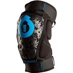 SixSixOne Rage Protective Hard Knee Pad: Black~ SM
