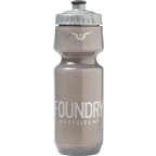 Foundry Cycles Water Bottle: Translucent Gray with Silver, 24oz