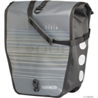 Civia Waterproof Rear Pannier: Gray Line