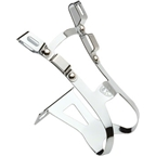 All-City Crayton Double Toe Clips Chrome Medium (50mm)