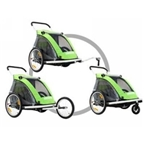 Croozer Kid-for-2 535 3-in-1 Alloy Trailer - Green