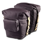 Brooks Land's End Rear Pannier with Rixen & Kaul KLICKFix Attachment and With Pocket - Slate