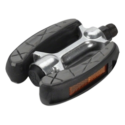 Dimension Curved Cruiser Pedal with Grip and Reflectors