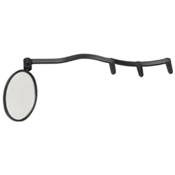 CycleAware Heads Up Eyeglass Mirror: Clip on; Black